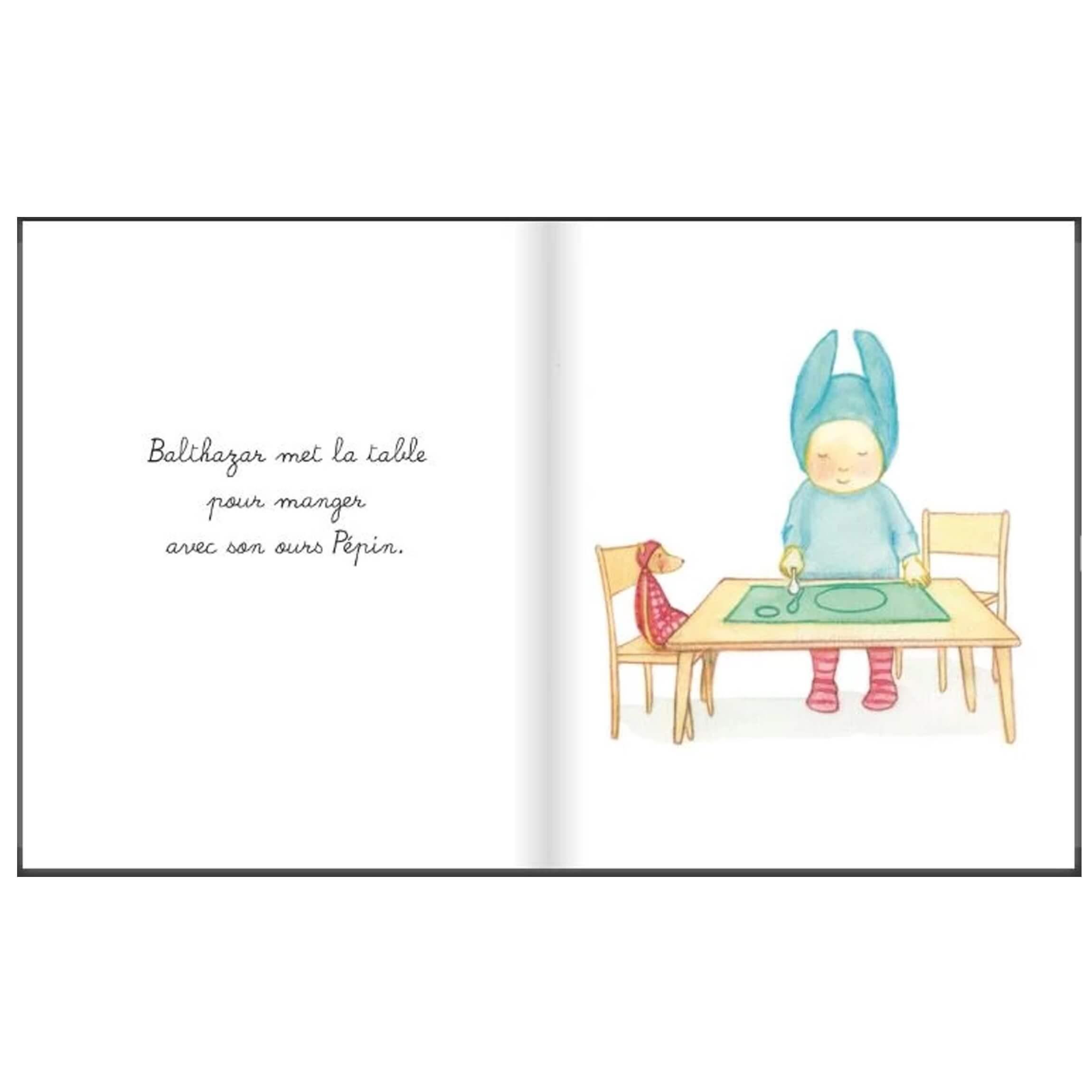 Livre Bébé Balthazar - A Table