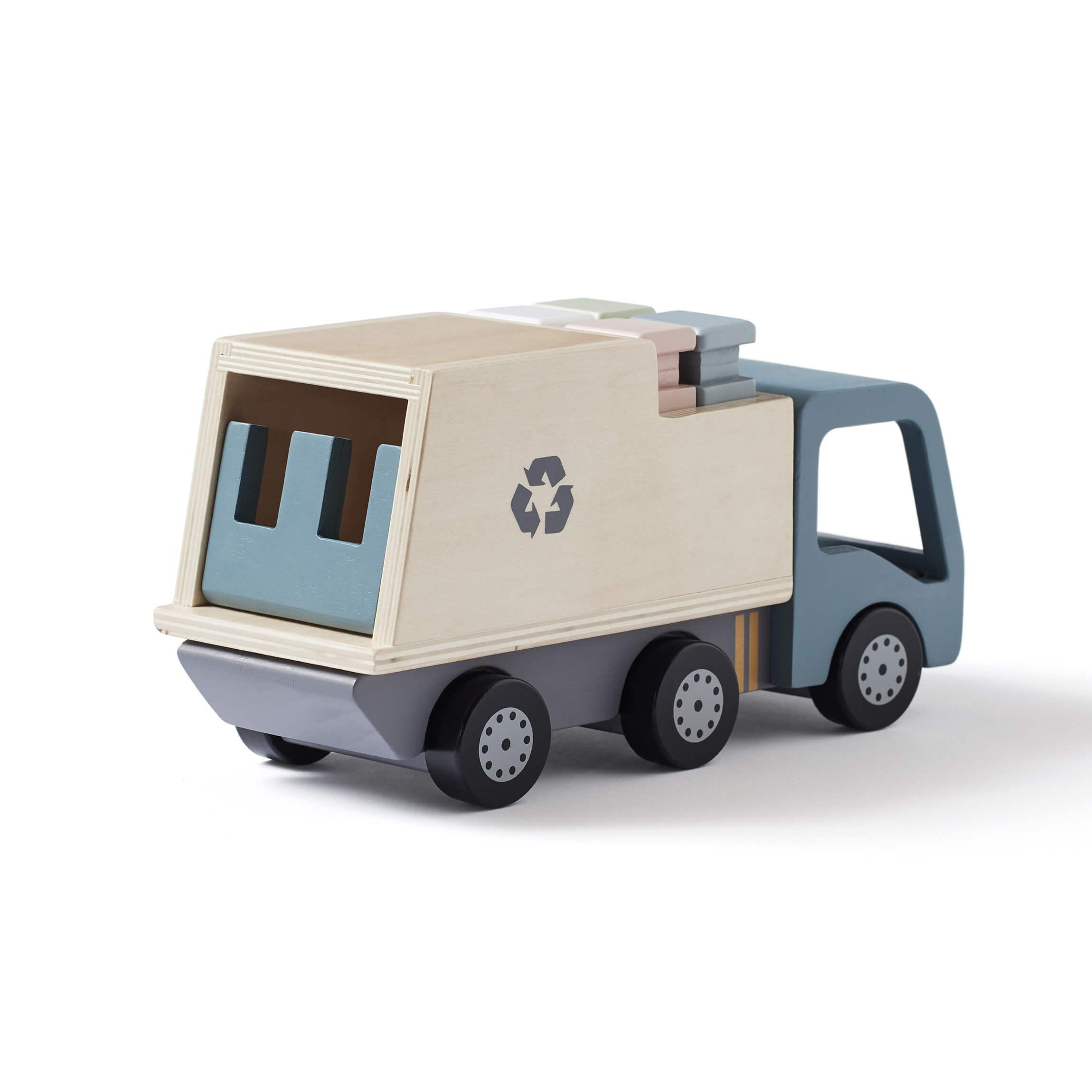 Camion poubelle en bois
