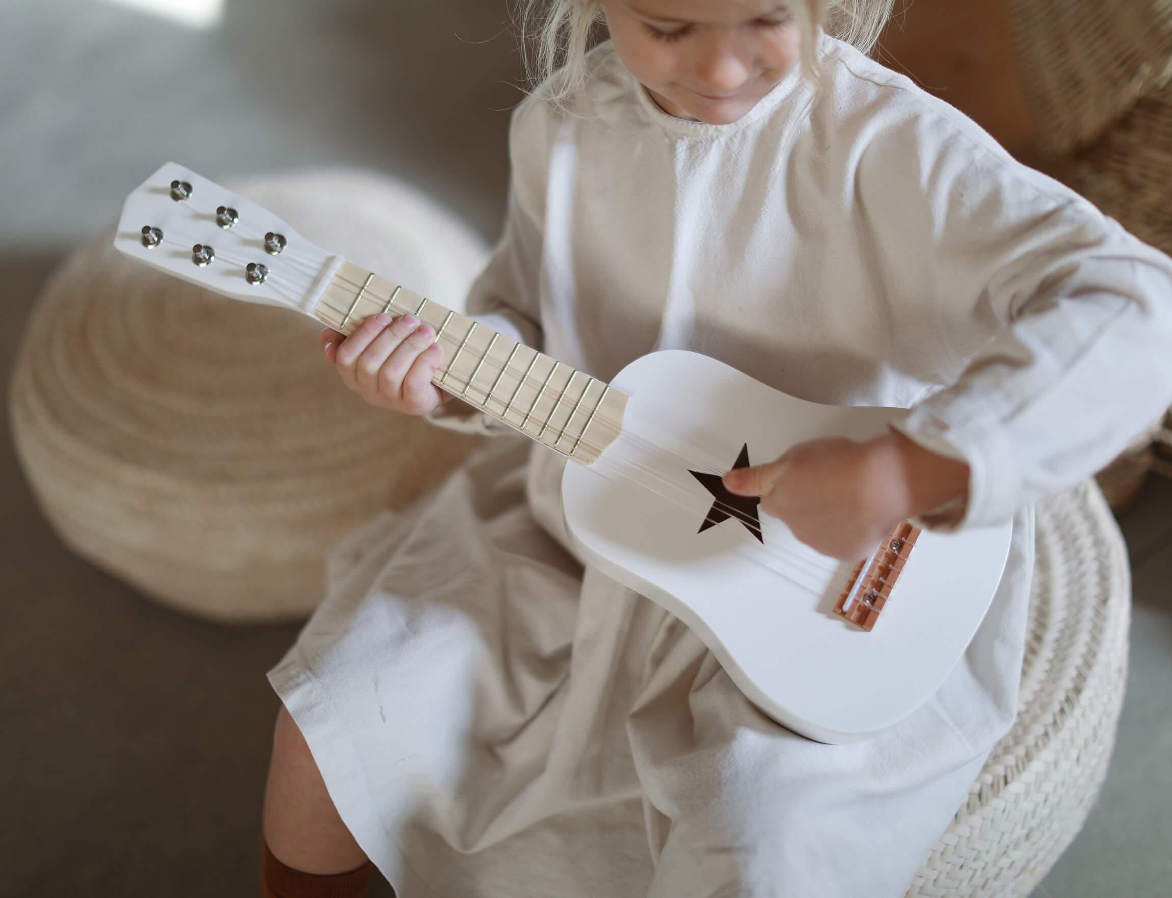 Wooden children's guitar