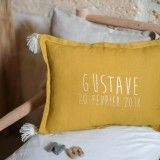 shop Personalised washed linen cushion