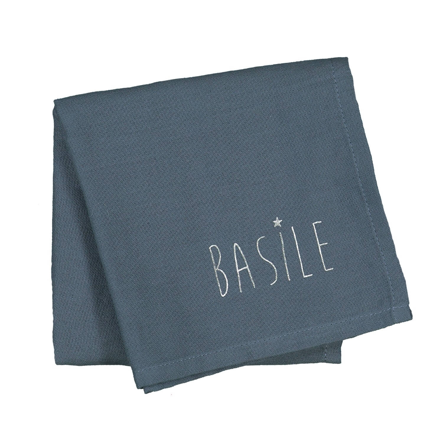 Baby's personalised cotton swaddle blanket 60x60