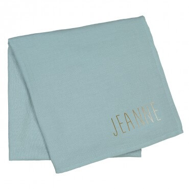 Baby's personalised cotton swaddle blanket 120x120