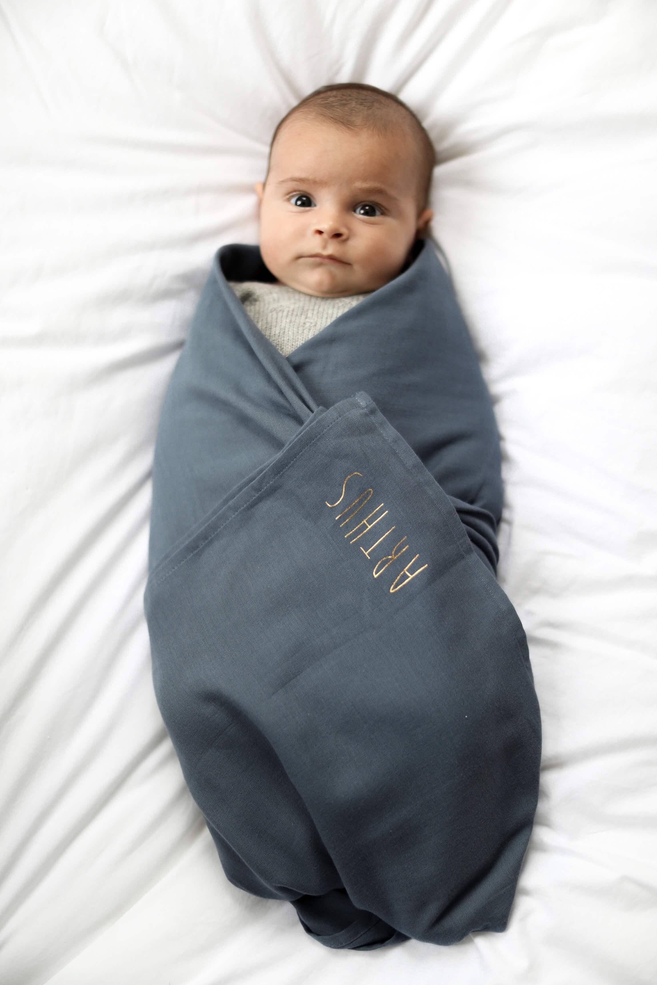 Lange en coton pour bébé 120x120