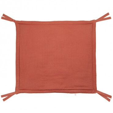 Soft linen quilted play mat