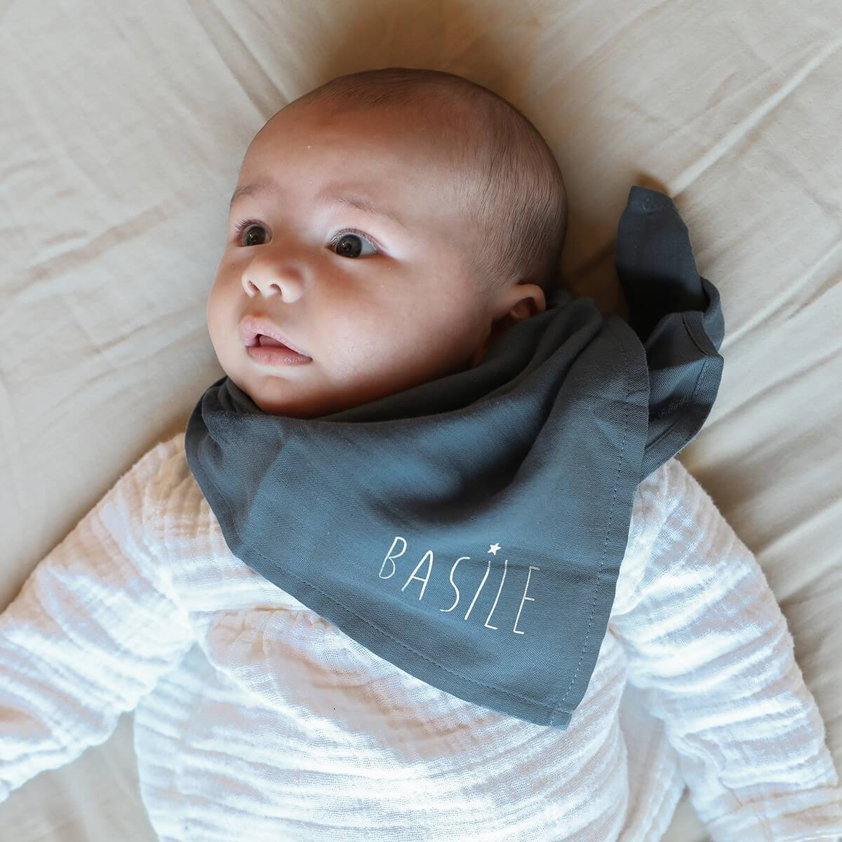 shop Baby's personalised cotton swaddle blanket 60x60