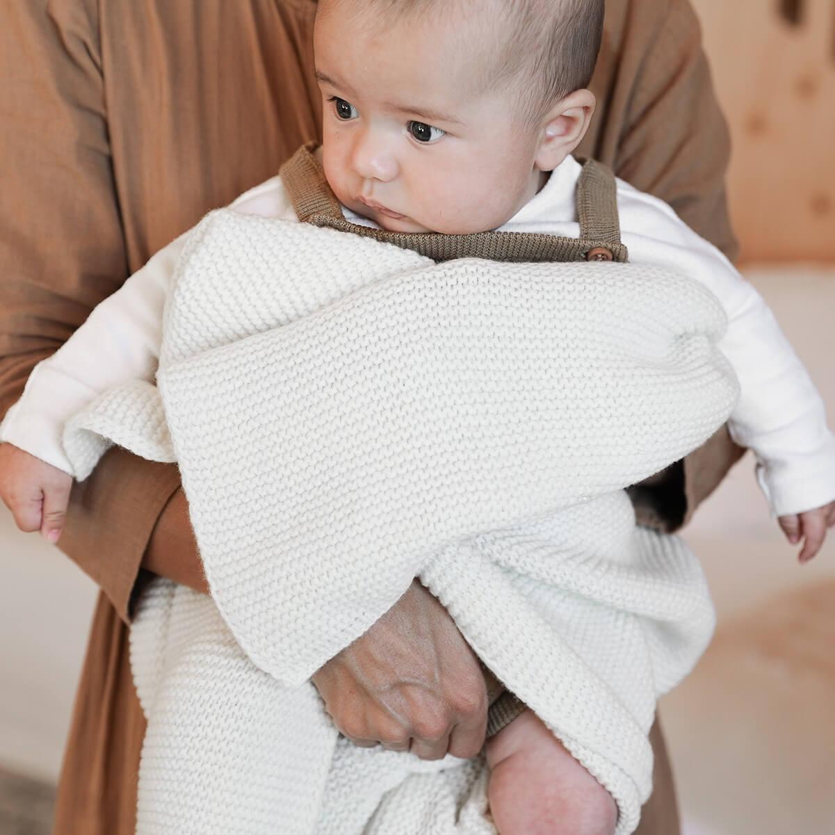 shop Couverture pour bébé - Plaid en maille