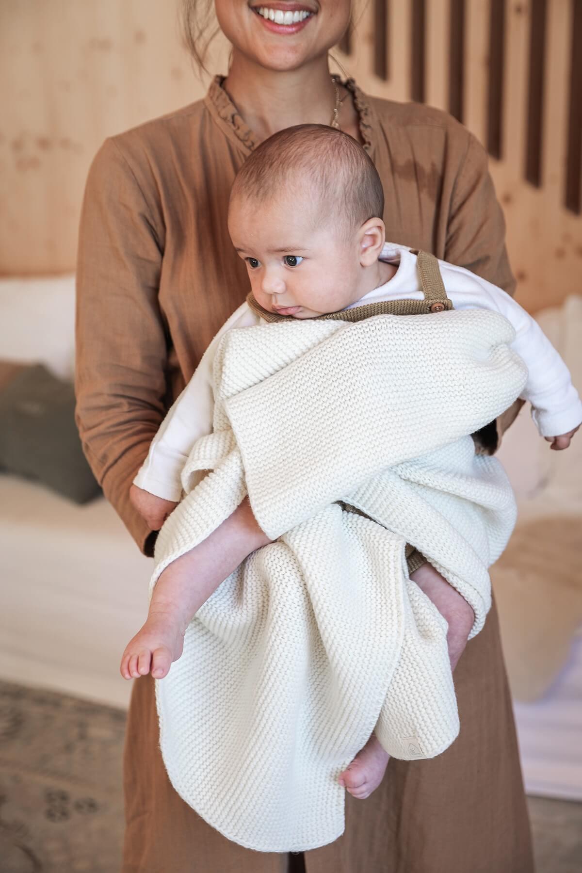 Couverture pour bébé - Plaid en maille