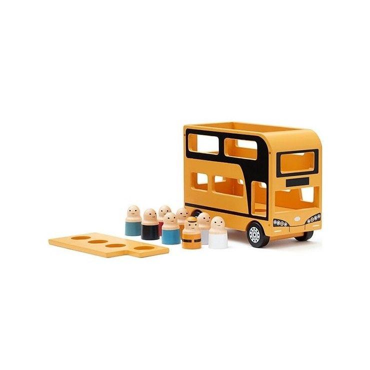 Bus à deux étages en bois