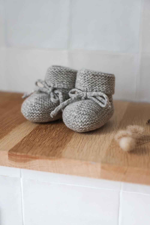 Chausson en laine bébé naissance