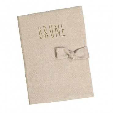 Washed linen book cover