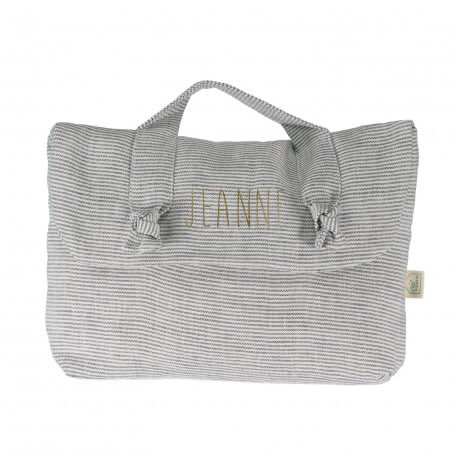 Personalised linen toiletry bag