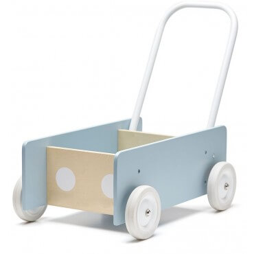 Wooden walker trolley