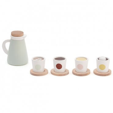 Coffee set with 4 cups