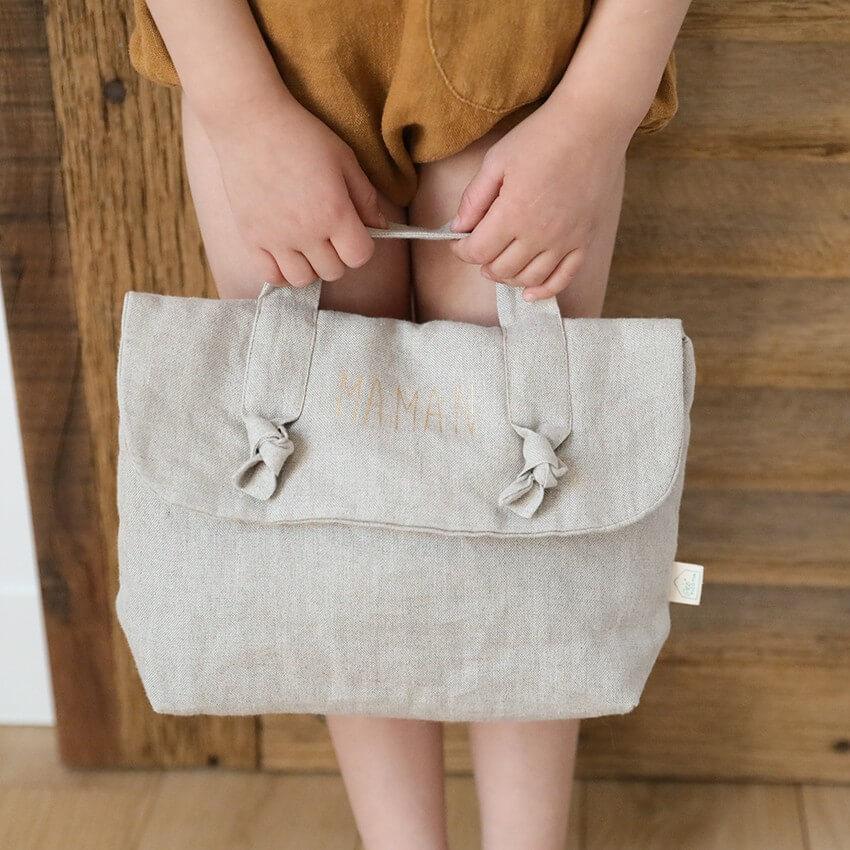 shop Trousse de toilette personnalisée en lin
