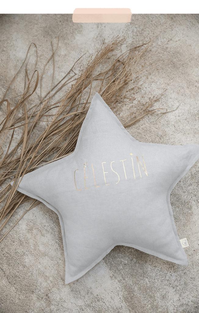 Coussin étoile personnalisable