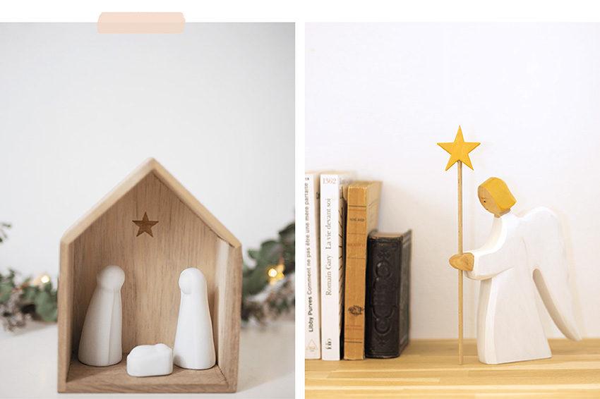 Une crèche et un ange pour un cadeau de baptême