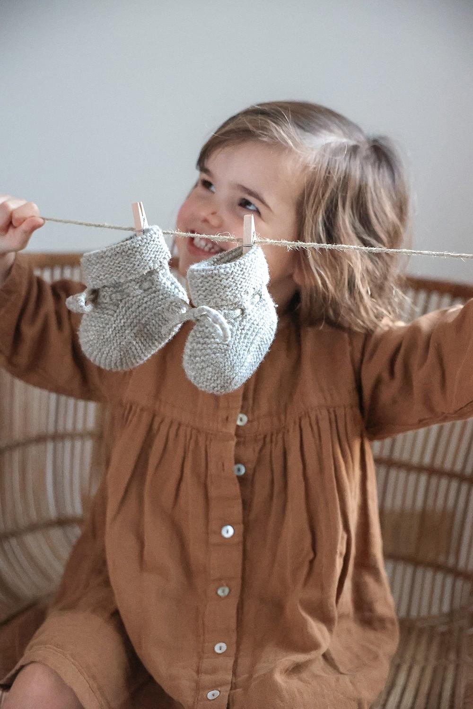 Chaussons tricotés